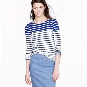 🛍 J. Crew boatneck painters tee- blue stripe